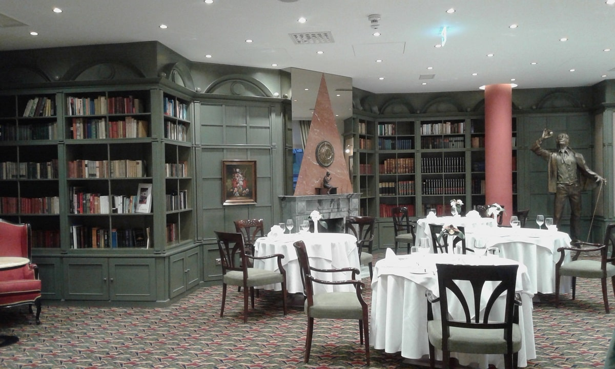 プラハ・savoy hotel内